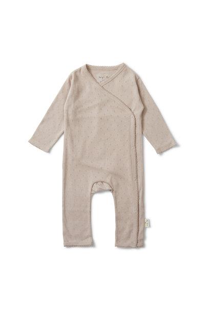 newborn  minnie onesie - rose grey