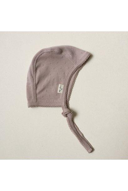 newborn minnie strikmutsje - rose grijs