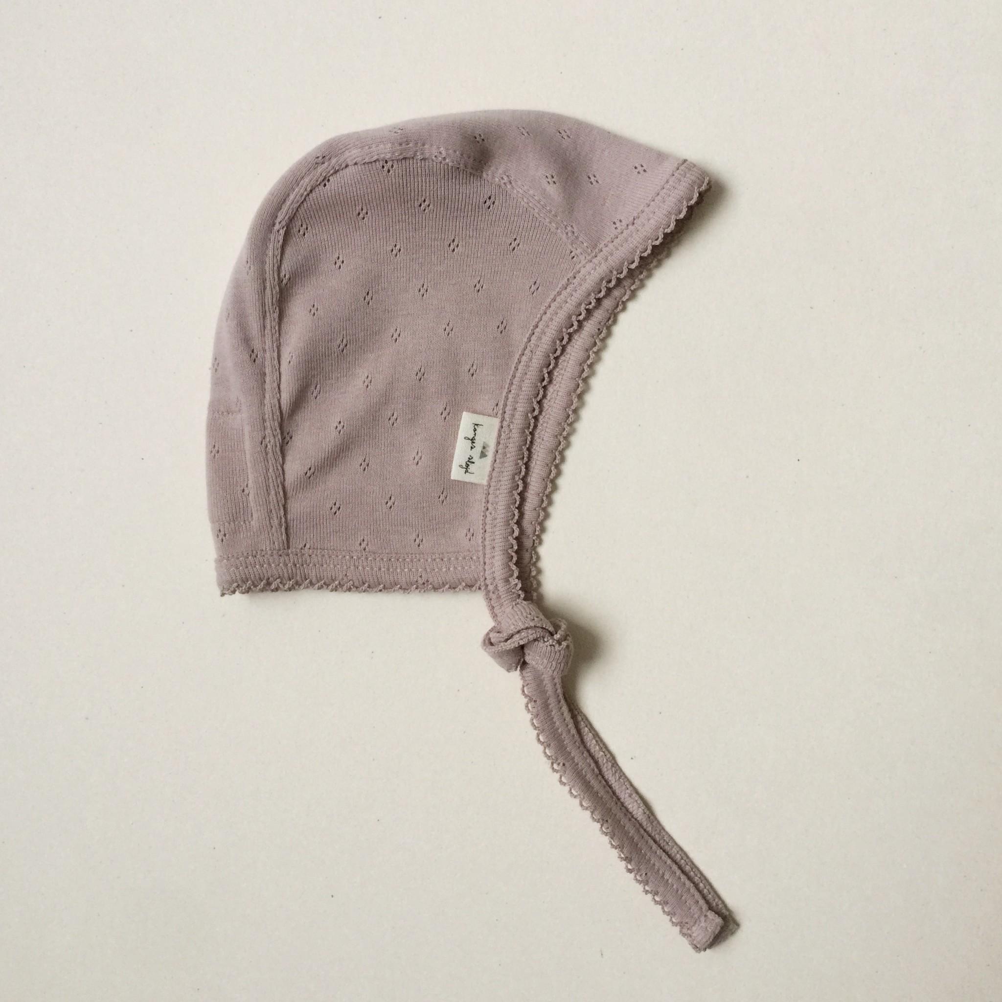 newborn minnie strikmutsje - rose grijs-1