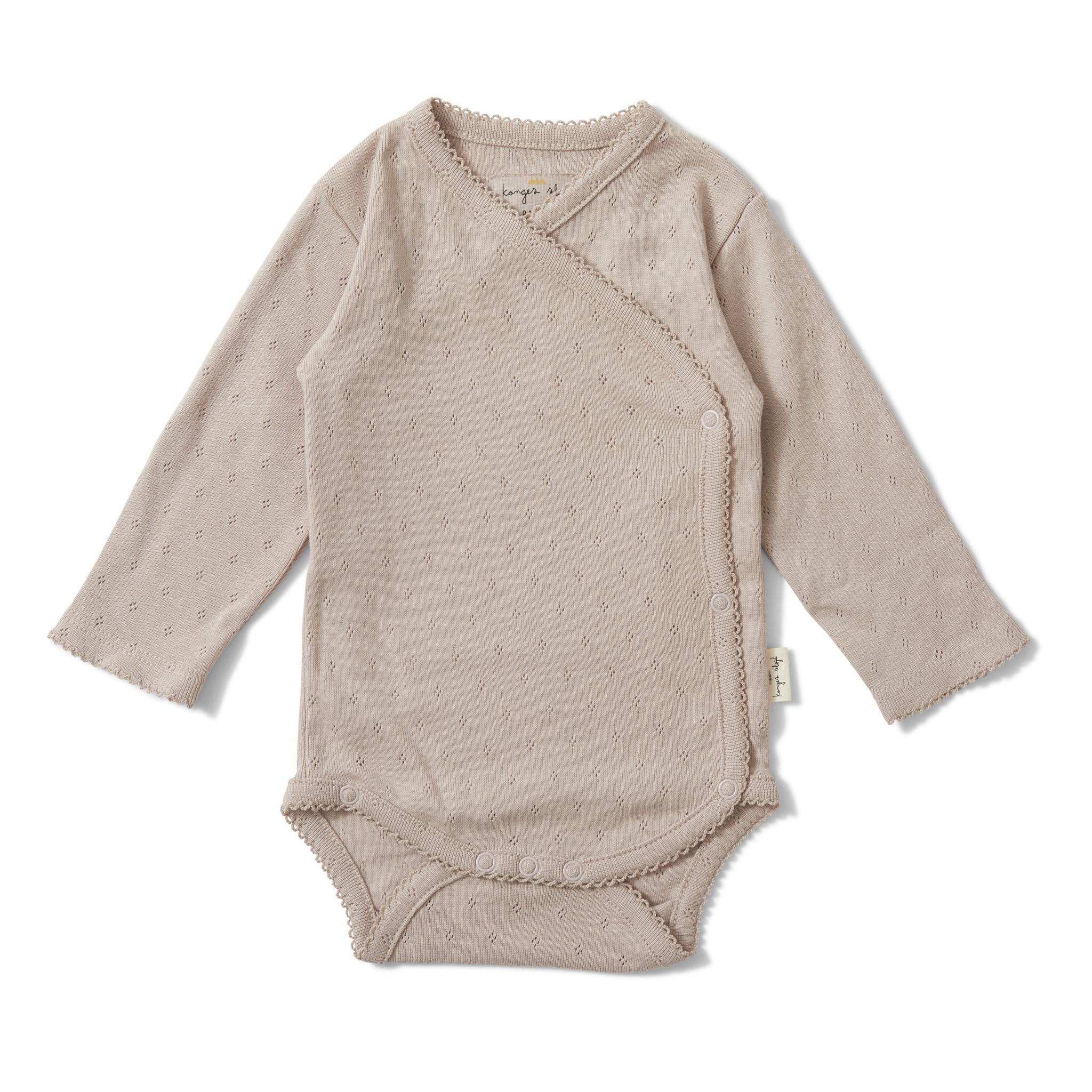 newborn minnie overslagromper - rose grijs-1