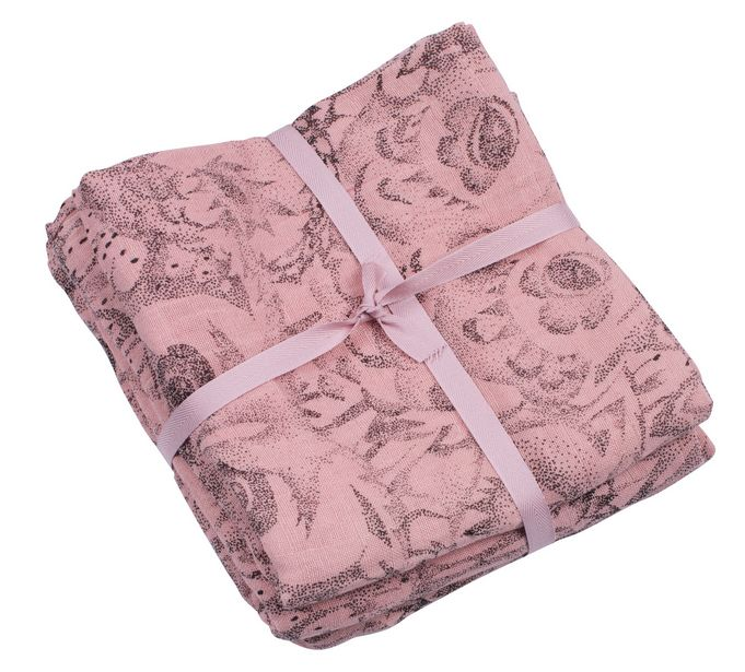 Muslin Swaddle Owl Coral-1