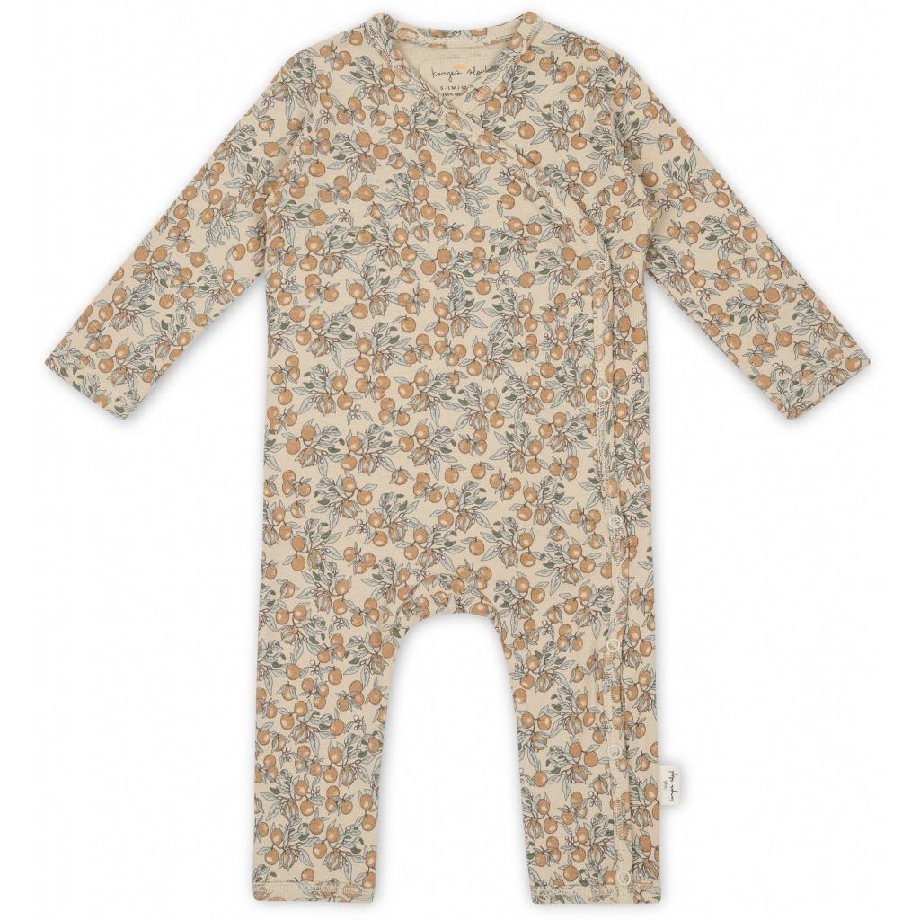 new born onesie - orangery beige-1