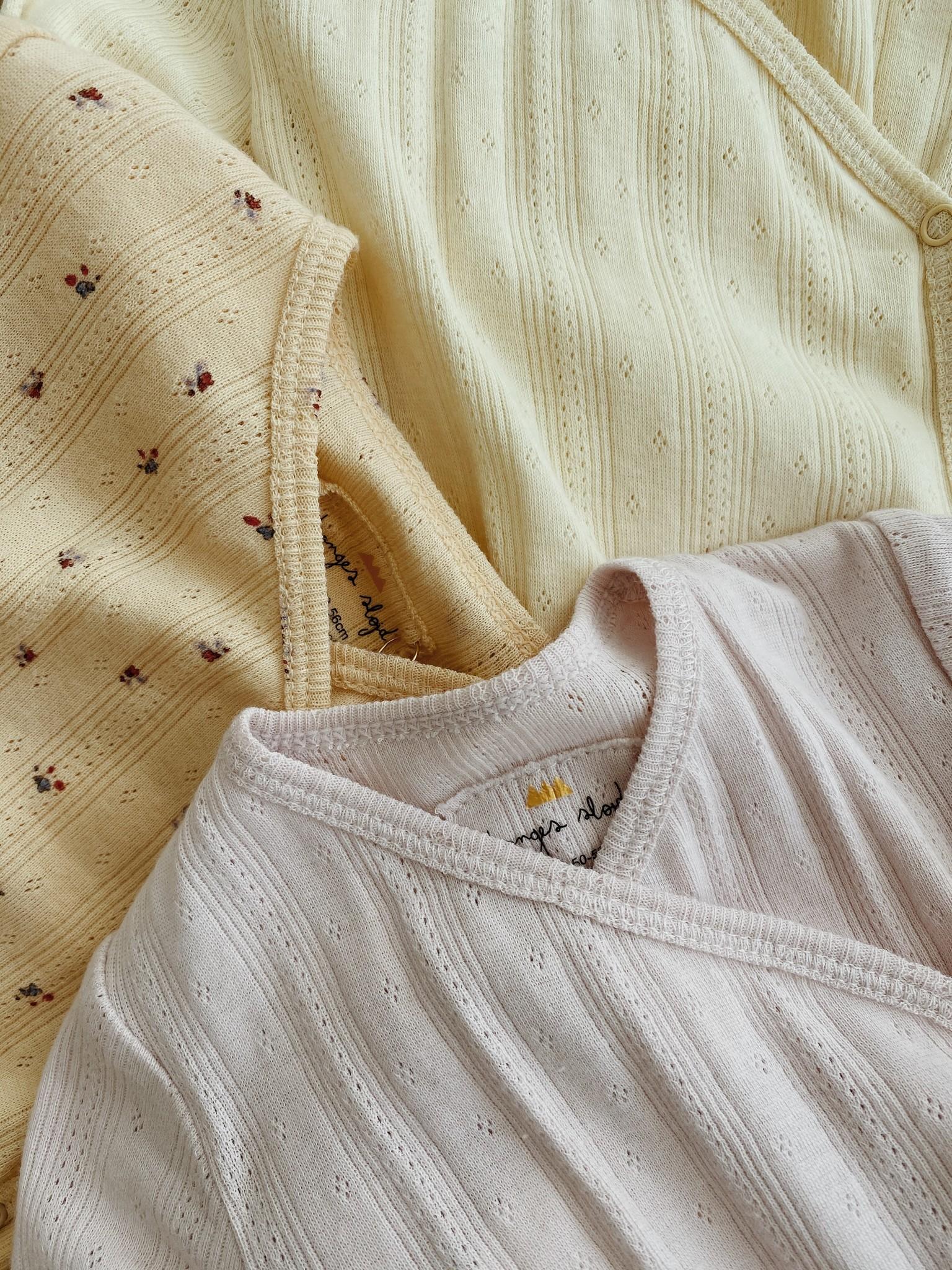 newborn pakje minnie onesie - lavender mist-2