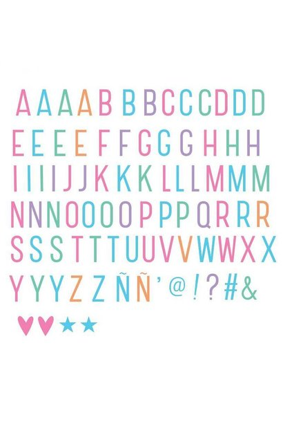 Lightbox letter set: Pastel -10%