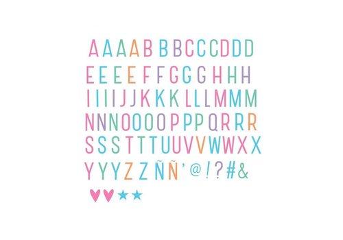 Lightbox letter set: Pastel -10%