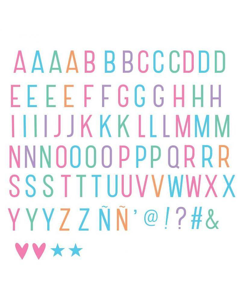 Lightbox letter set: Pastel-1