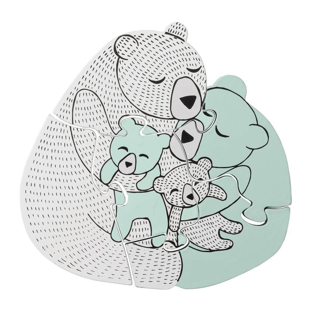 Houten Puzzel Family Bear-1
