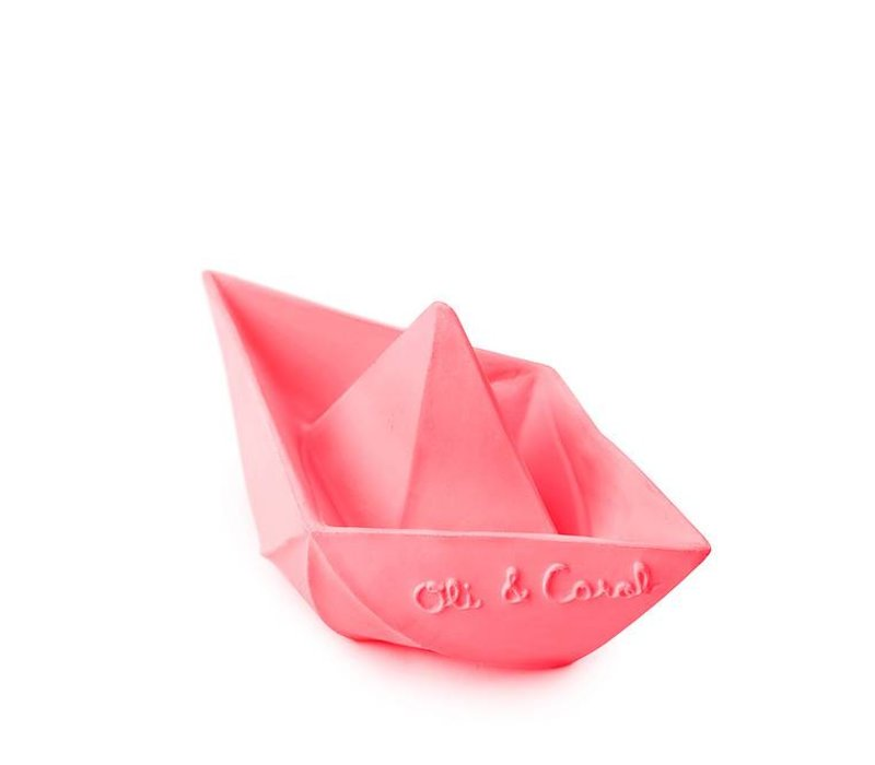 origami boot roze