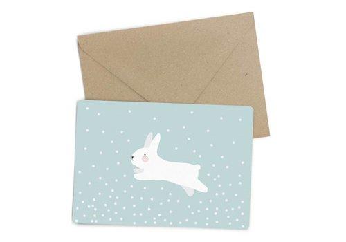 Eef Lillemor white rabbit kaart