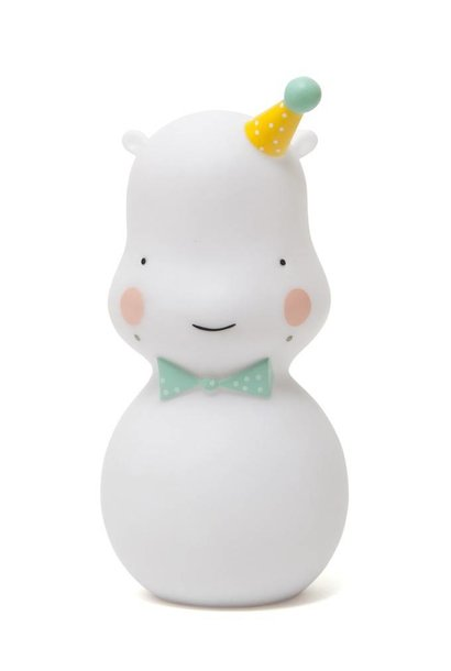 happi hippo nightlight - white