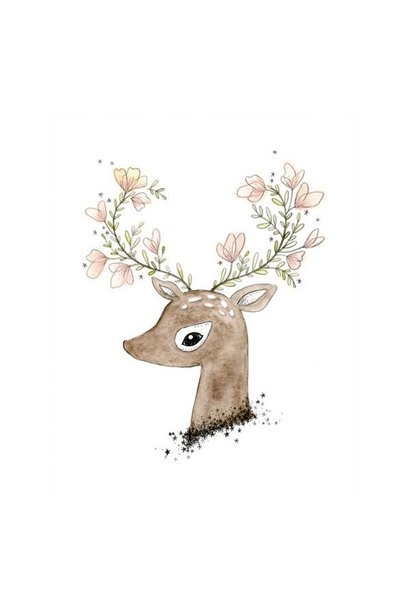 flowering fawn print