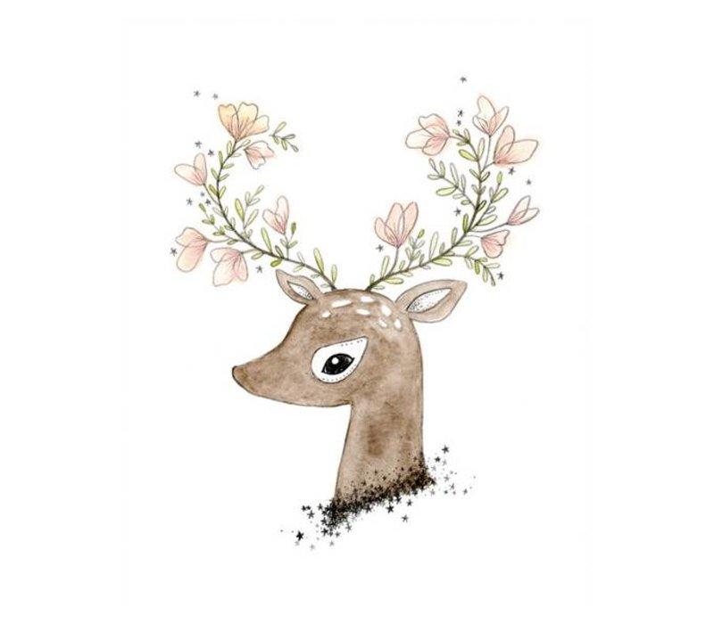 flowering fawn print