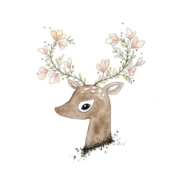 flowering fawn print-1