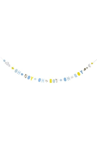 oh baby boy card - garland