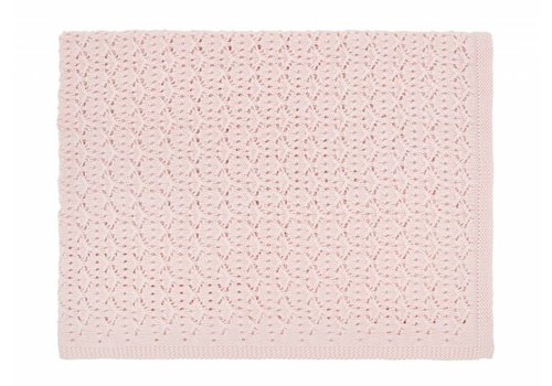 Rose in April dentelle blanket - light pink