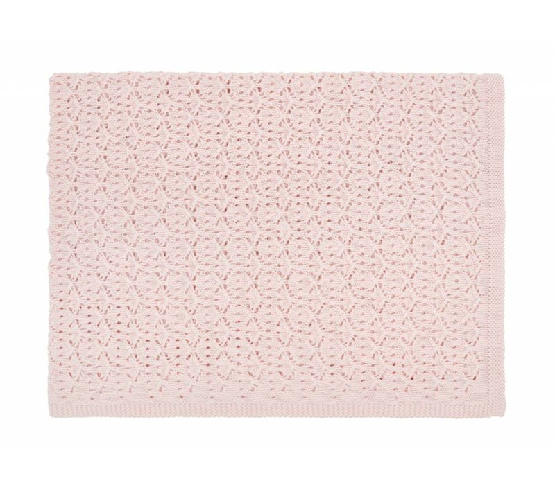 dentelle blanket - light pink