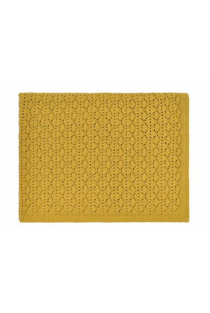 dentelle blanket - ceylan yellow