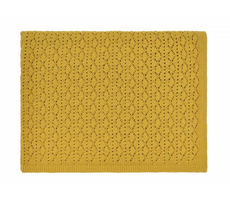 dentelle blanket - ceylan yellow 70x100