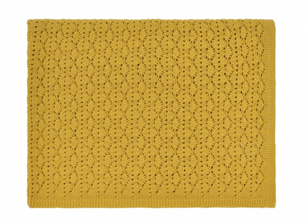 dentelle blanket - ceylan yellow 70x100-1