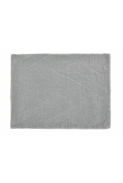 quilt eugenie velours - grey
