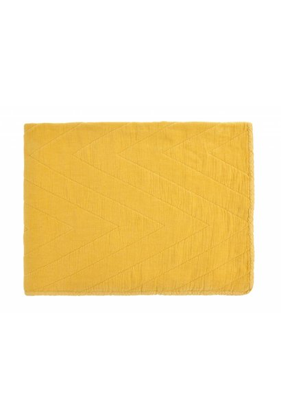 quilt eugenie velours - yellow
