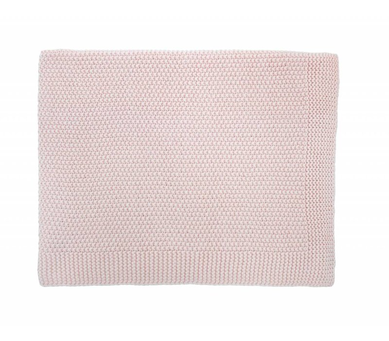 baby big bou blanket - light pink 75x100