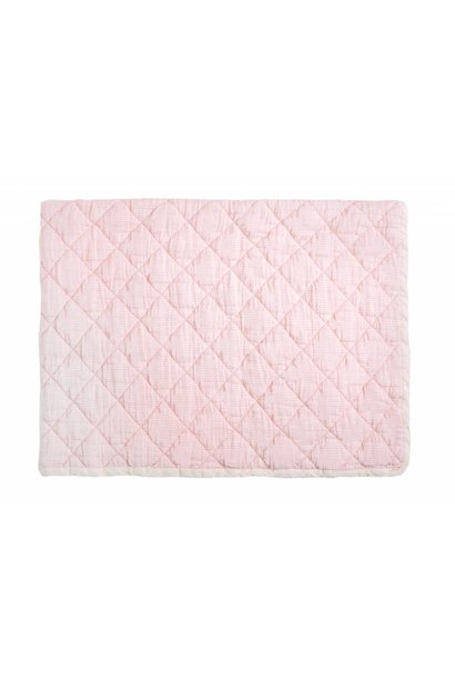 rose marie quilt - light pink stripe