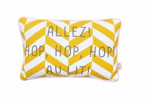 Rose in April pillow yellow - hop hop hop au lit
