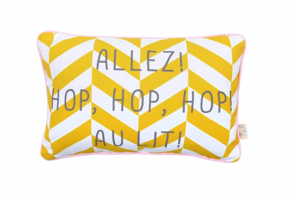 pillow yellow - hop hop hop au lit-1