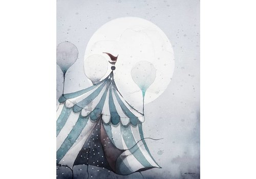 Mrs Mighetto flying carnival 40x50