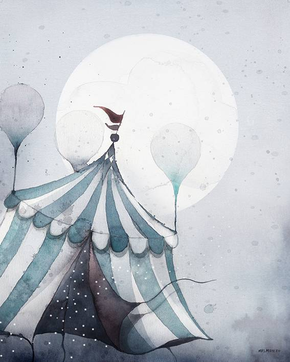 poster flying carnival 40x50 cm-1