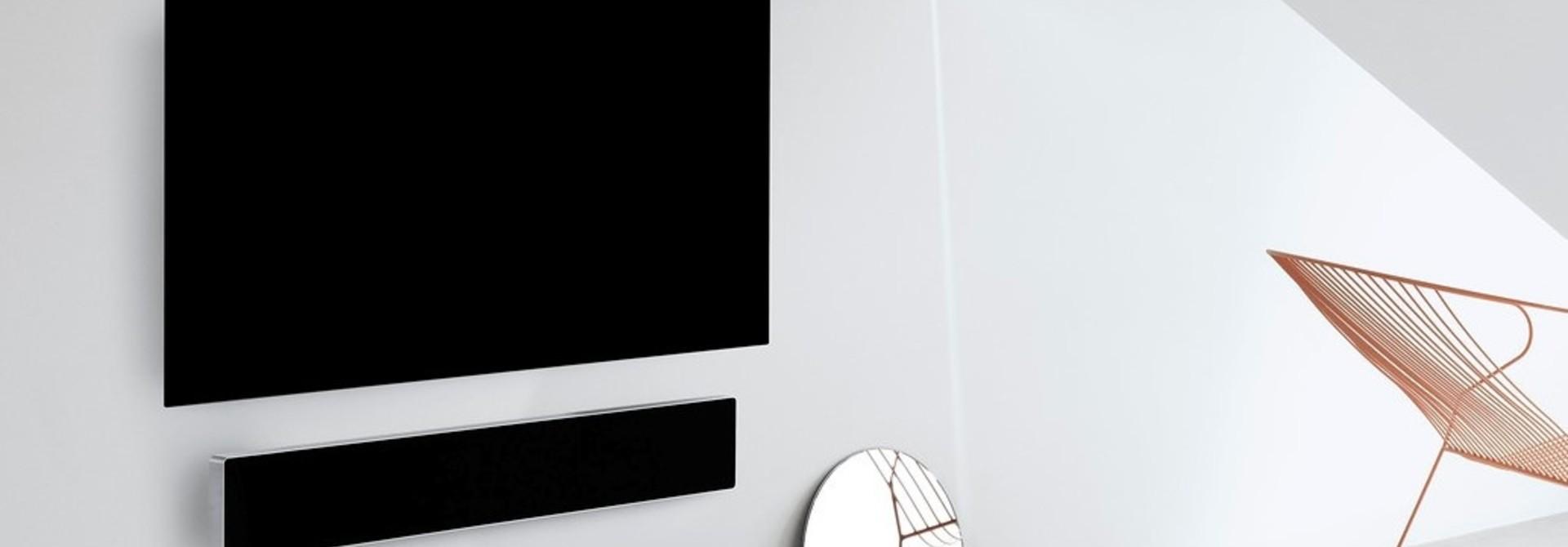 LG Oled65GX + BeoSound Stage Combipack muur