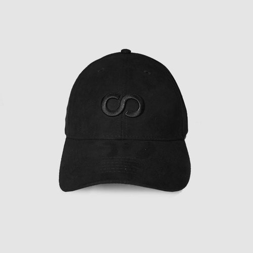Black Icon Suede Baseball Cap