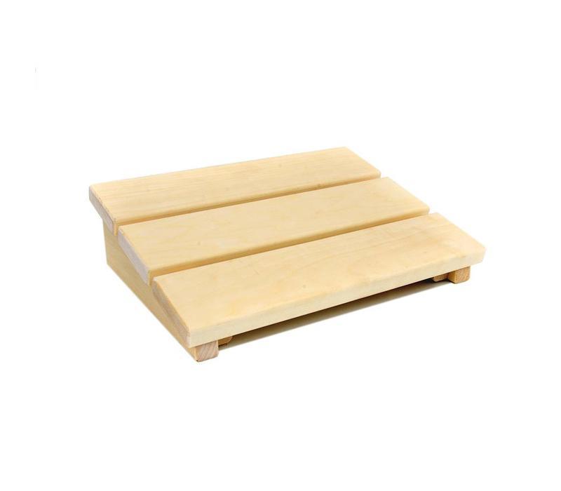 Ergonomische hoofdsteun abachi hout