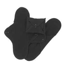 ImseVimse Washable Night Pads - Black