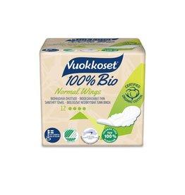 Vuokkoset Vuokkoset normal sanitary napkins with wings 100% organic