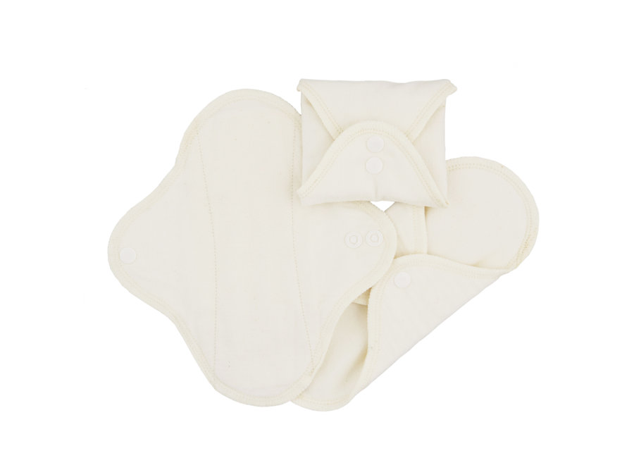 Pack of 3 Washable Night Pads - Natural