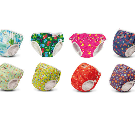 Washable swim diapers
