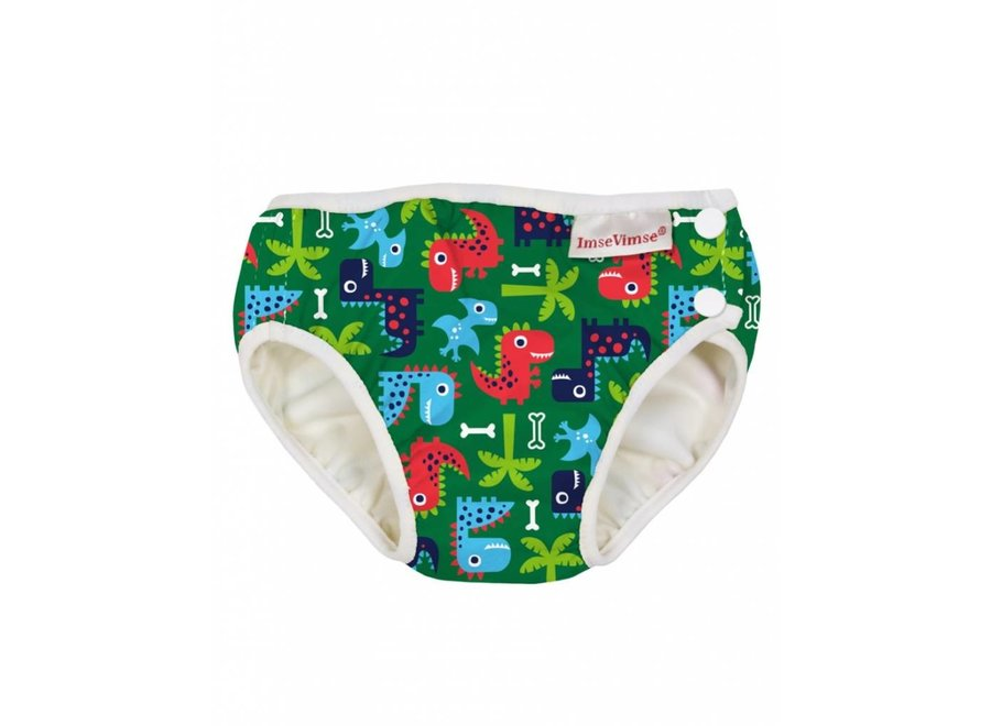 Washable Swim Nappy -  Green Dino