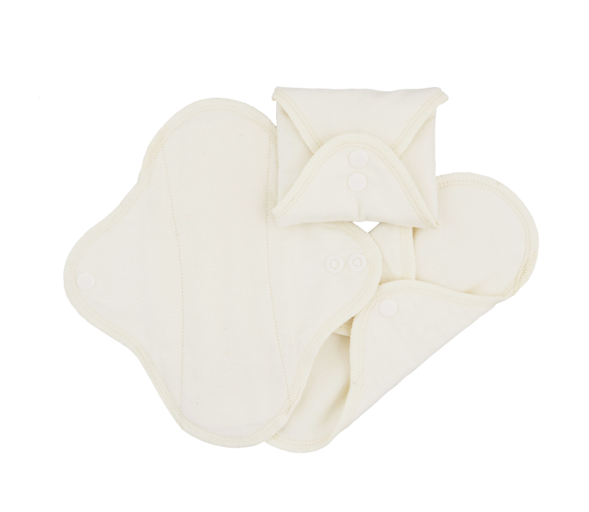 ImseVimse Pack of 3 Washable Panty liners - Natural with colored stitching