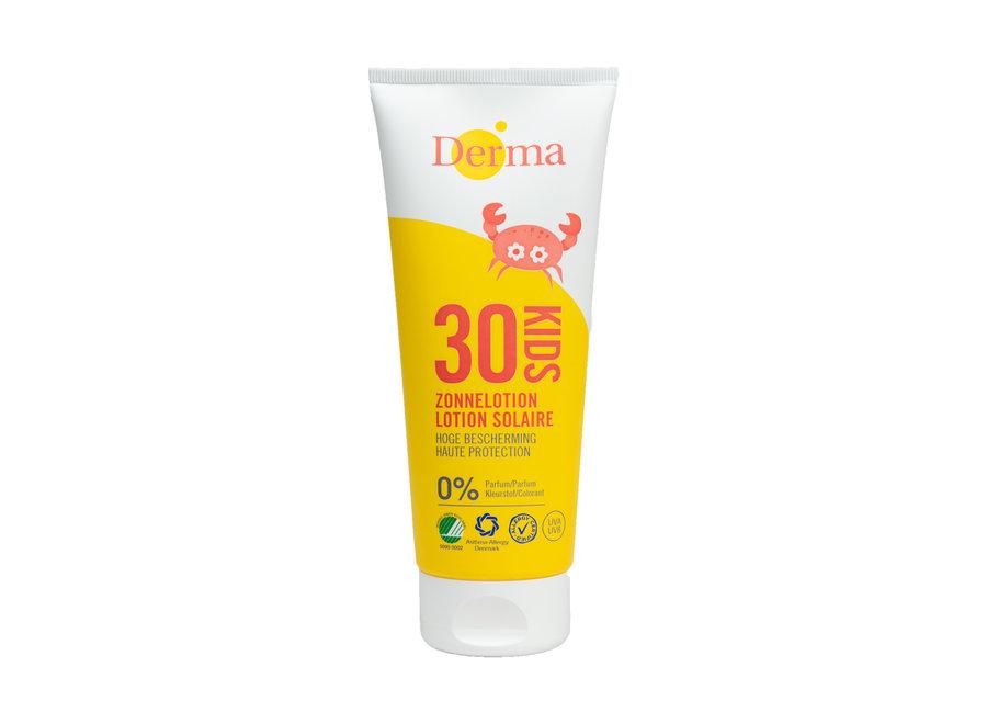Derma Eco Zonnelotion SPF30 voor kids