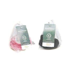 ImseVimse Bambooty zoogcompressen wasbaar - 20 stuks - zwart en wit/roze