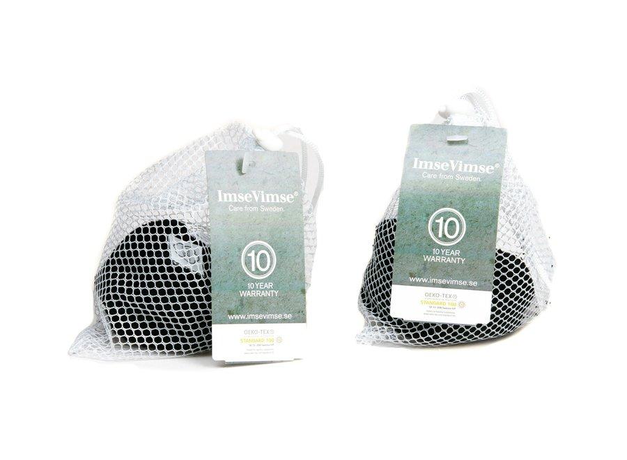 Reinigingpads wasbaar - 20 stuks - zwart