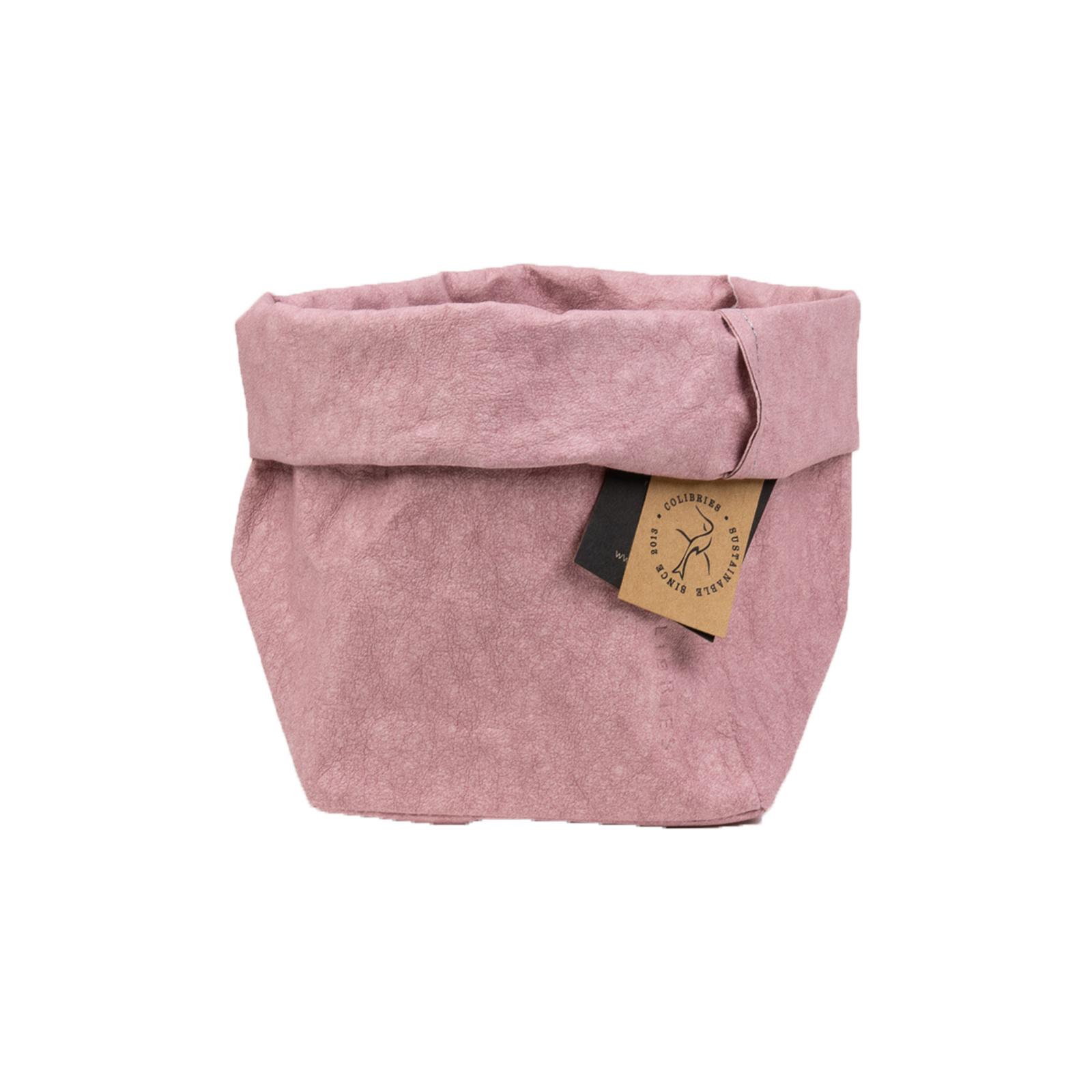 Colibries Colibries Plume opbergmand klein - duurzaam - wasbaar papier - roze