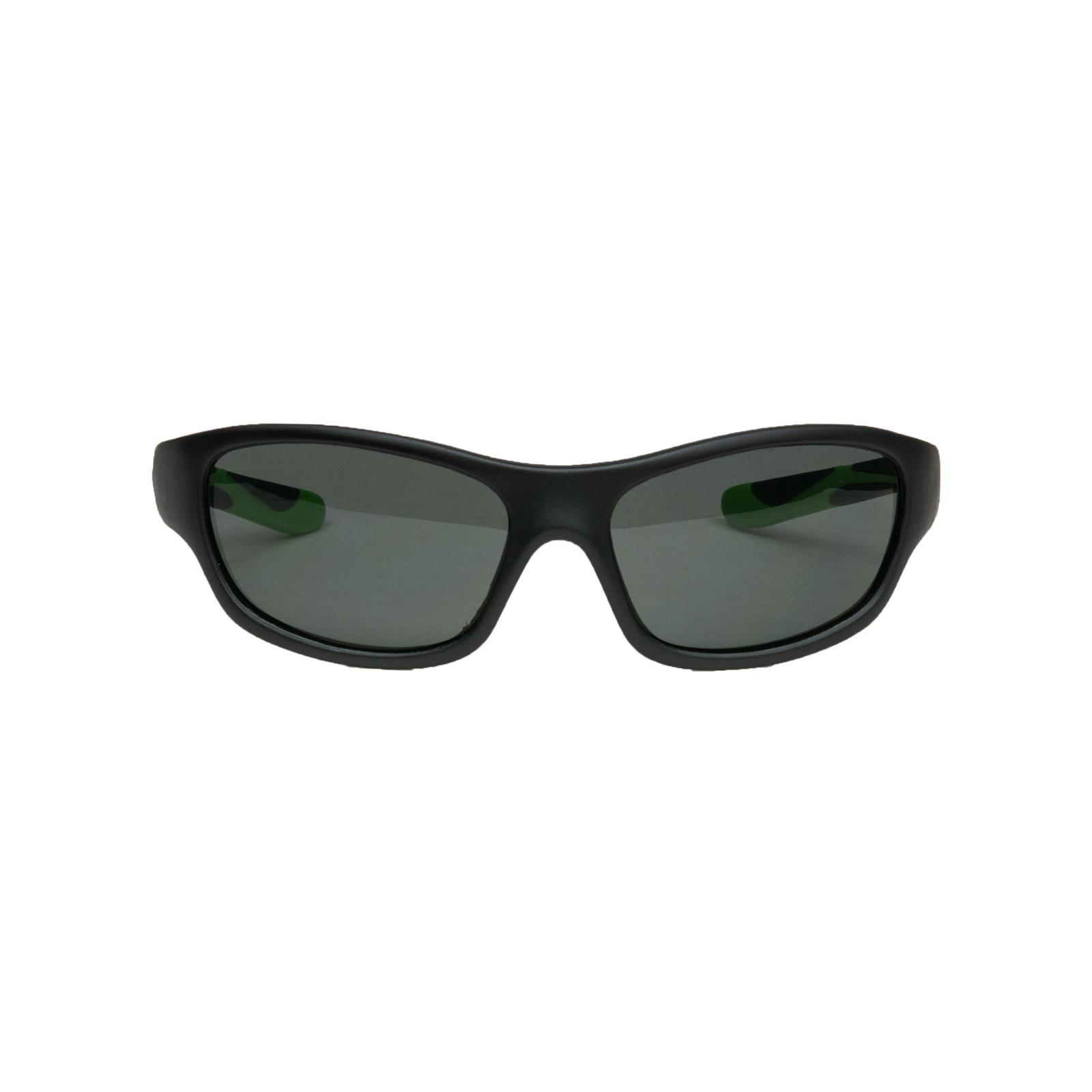 Melleson Eyewear Melleson Eyewear junior zonnebril zwart groen - kind 3-8 jaar - kinderzonnebril