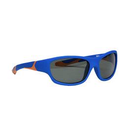 Melleson Eyewear Melleson Eyewear junior zonnebril blauw  oranje - kind 3-8 jaar - kinderzonnebril