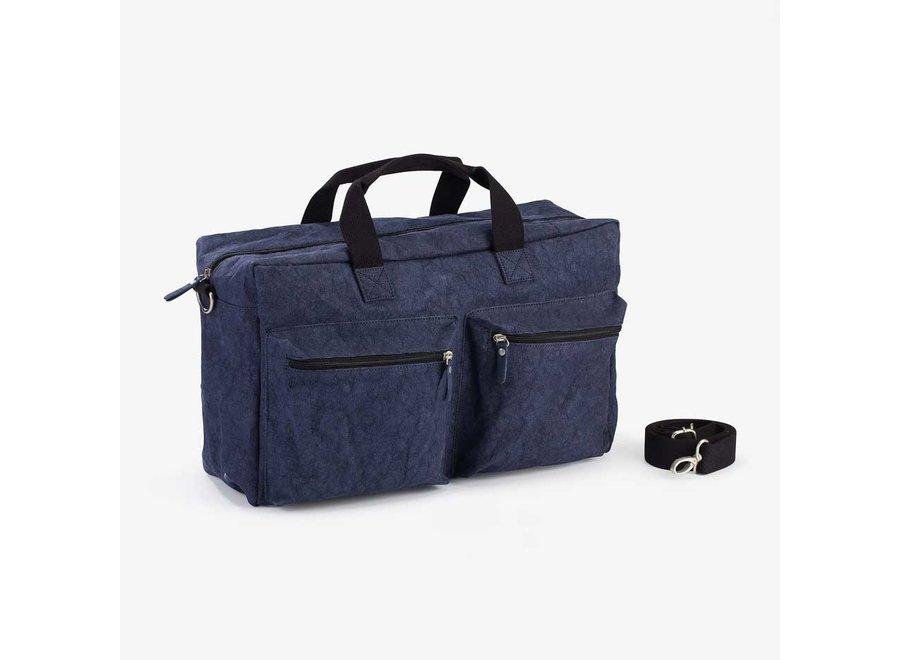Colibries Chestnut Weekend Bag- Dark Navy