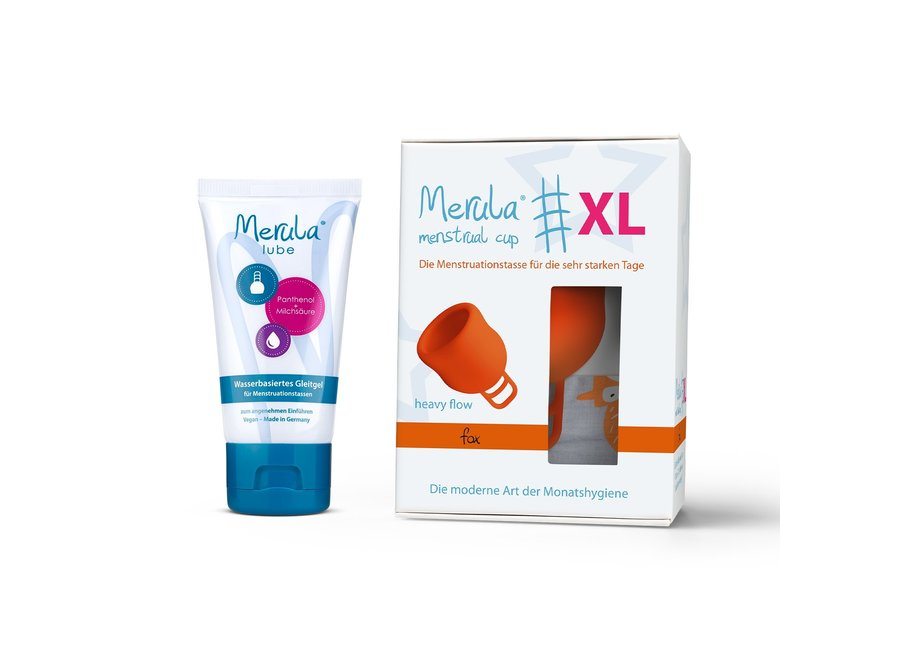 Merula Cup XL + Glijmiddel - 4 Kleuren
