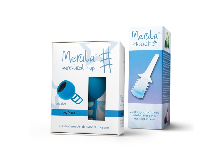 Merula cup met Merula douche - mermaid blauw