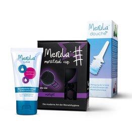Merula Merula cup met Merula douche + lube - midnight zwart